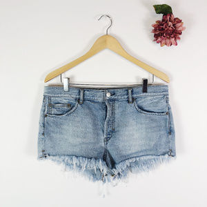 [WE THE FREE] Frayed Denim Cutoff Shorts